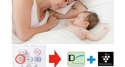 Chế độ Baby Sleep không gây ồn của máy lạnh Sharp AH-X18SEW