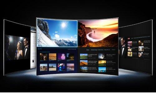 TV LED SAMSUNG UA65JS9000KXXV xem hai màn hình