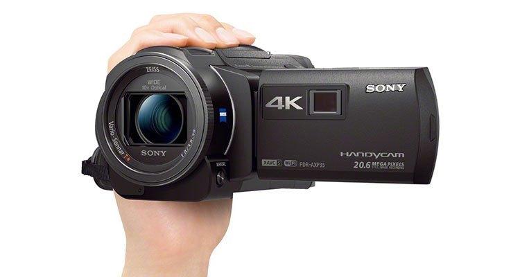 Máy quay phim Sony FDR-AXP35 nhỏ gọn trong lòng bàn tay