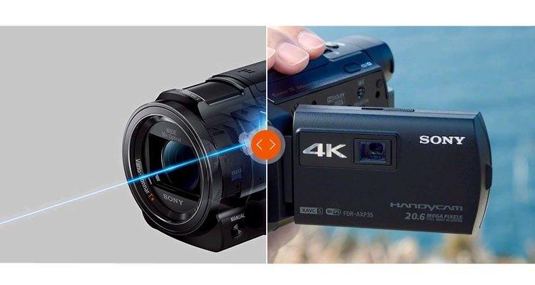 Máy quay phim Sony FDR-AXP35 ghi hình đẹp cả nơi thiếu sáng