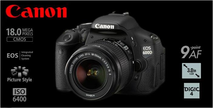 Máy ảnh Canon EOS 600D có bộ xử lý hình ảnh DIG!C 4, ngoài ra máy ảnh canon eos còn có thiết bị cảm biến cmos cỡ APS-C 18.0 megapixel