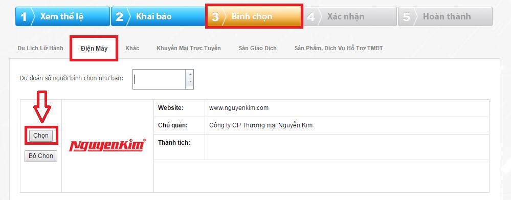 Chọn website nguyenkim.com là website thương mại điện tử đa ngành tốt nhất năm 2014