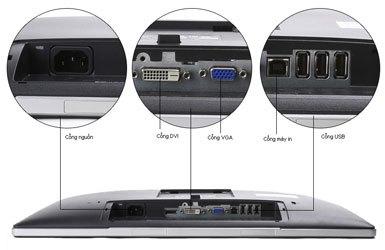 Màn hình máy tính Dell Pro P2214H mang kết nối đa dạng
