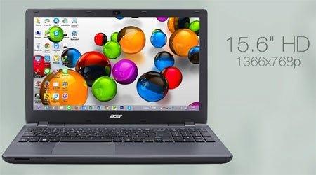 Laptop Acer E5 571G trang bị màn hình 15.6 inches
