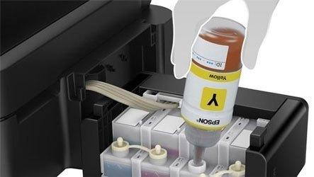 Máy in phun màu Epson L555 đảm bảo được hiệu quả làm việc