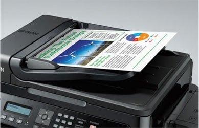 Máy in phun màu Epson L555 đa năng, có thể scan, copy và fax