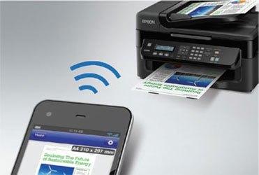 Máy in phun màu Epson L555 hỗ trợ kết nối wi-fi tiện lợi