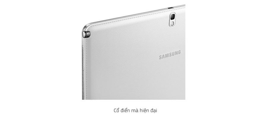 Nắp lưng họa tiết da sang trọng mang đến cho máy tính bảng Samsung Galaxy Note 10.1 2014/SM-P601 thiết kế cổ điển và thanh nhã hơn bao giờ hết
