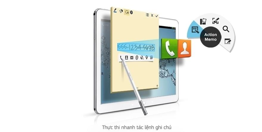 Trải nghiệm sự thoải mái tuyệt hảo cùng Action Memo máy tính bảng Samsung Galaxy Note 10.1 2014/SM-P601