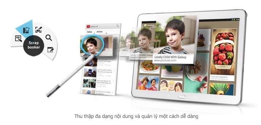 Scrapbooker (Sổ ý tưởng đa phương tiện) trên máy tính bảng Samsung Galaxy Note 10.1 2014/SM-P601