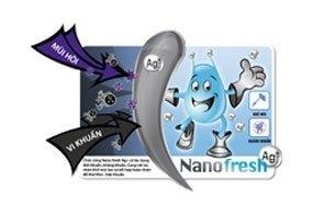 Tủ lạnh Sanyo SR-185PN(SS) diệt khuẩn và khử mùi Nano Fresh Ag+