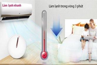 Máy lạnh LG V13APM làm lạnh nhanh