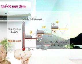Chế độ ngủ đêm của máy lạnh LG V13APM