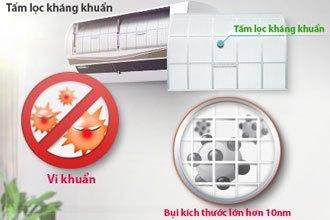 Tấm lọc kháng khuẩn máy lạnh LG V13APM loại bỏ bụi bẩn