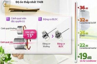 Máy lạnh LG V13APM độ ồn thấp, không làm mất giấc ngủ của bạn