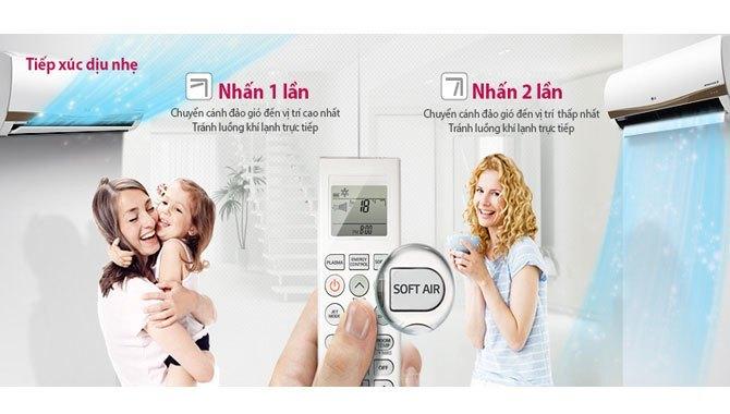 Máy lạnh LG V18ENC tiếp xúc dịu nhẹ, giá tốt tại Nguyễn Kim