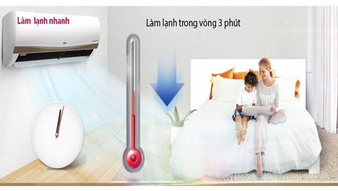Máy lạnh LG V18ENC làm lạnh nhanh