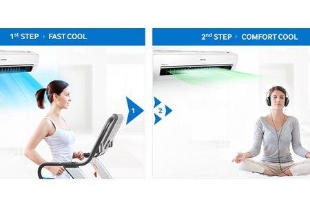 Máy điều hòa không khí Samsung AR09JCFSSURNSV mát nhanh, dễ chịu