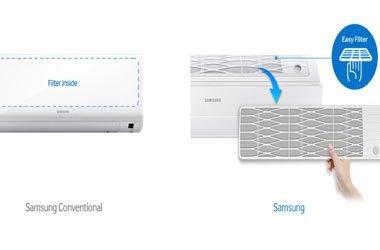 Máy lạnh Samsung AR18JCFSSURNSV 2 ngựa lưới lọc tiện dụng