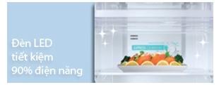 Tủ lạnh sharp SJ-191E-SL 2 cửa sử dụng đèn LED tiết kiệm điện năng.