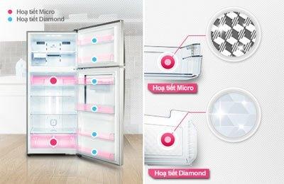 Tủ lạnh LG GR-L392MG có thiết kế vô cùng ấn tượng