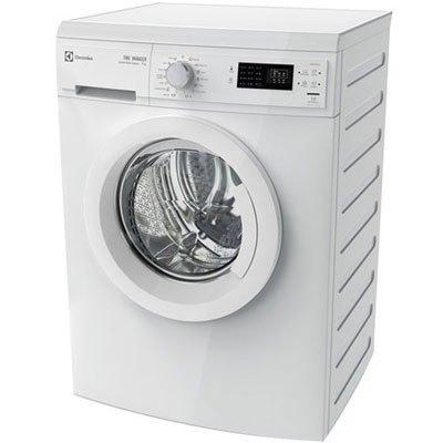 Máy giặt cửa trước Electrolux EWP85752 màn hình điều khiển chạm, nút vặn xoay tròn và đèn LED.