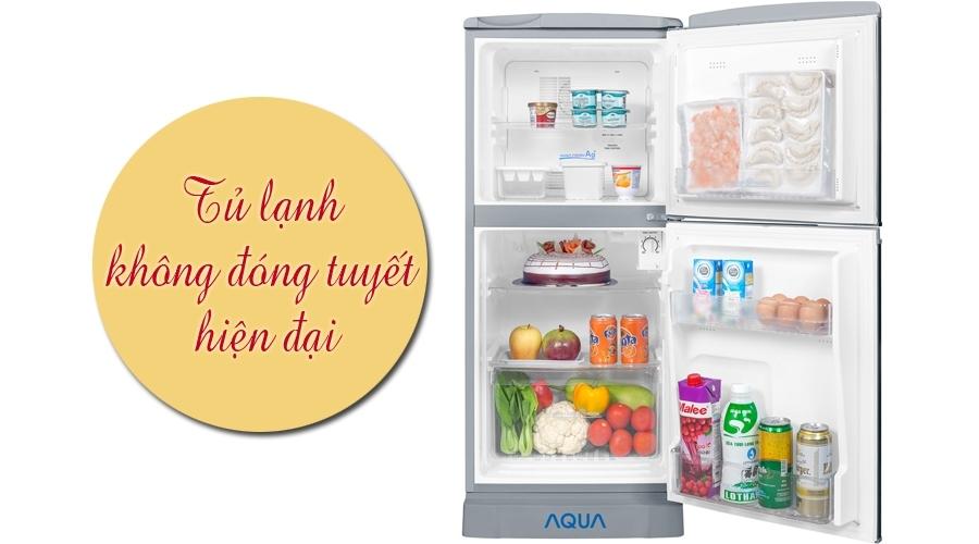 Tủ lạnh Aqua 110 lít AQR-125BN bạc bán trả góp 0% tại Nguyễn Kim