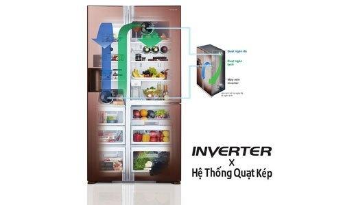 Tủ lạnh Hitachi R-W660PGV3 540 lít tiết kiệm điện