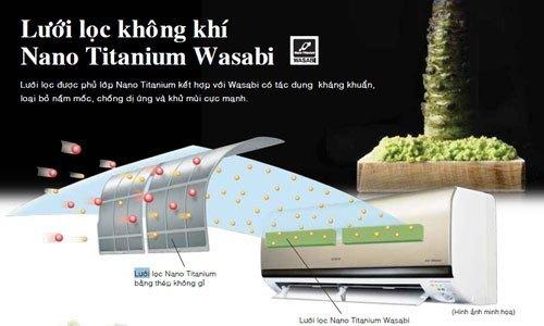 Máy lạnh Hitachi RAS-X13CD 1.5 HP có lưới lọc Nano Titanium Wasabi
