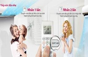 Máy lạnh LG V10APM chế độ tiếp xúc dịu nhẹ