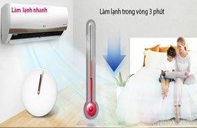 Máy lạnh LG V10APM làm lạnh nhanh trong 3 phút