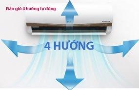 Máy lạnh LG V10APM đảo gió bốn hướng tự động