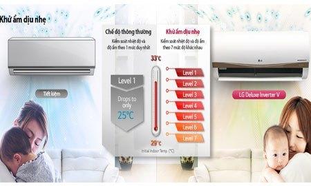 Máy lạnh LG V13APC khử ẩm dịu nhẹ