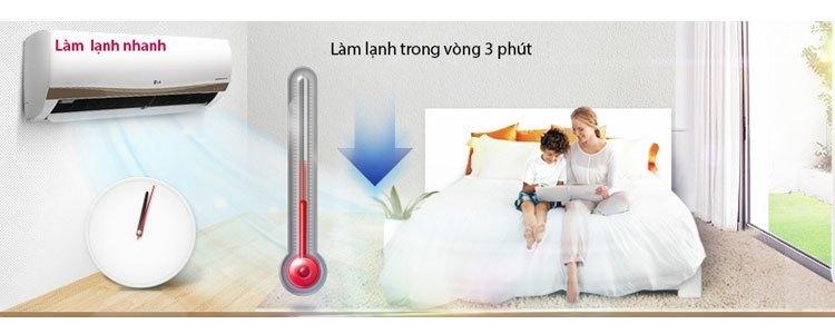 Máy điều hòa LG H09ENB chế độ làm lạnh nhanh trong 3 phút