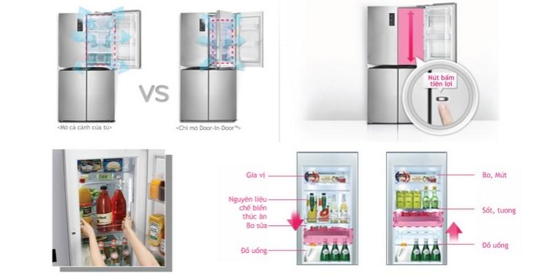 Tủ lạnh LG GR-R24FGK 676 lít giảm giá đặc biệt tại nguyenkim.com