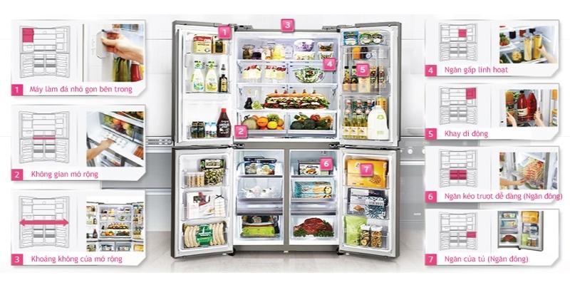 Mua tủ lạnh LG GR-R24FGK 676 lít ở đâu uy tín?