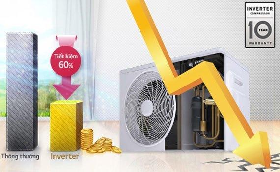 Máy lạnh LG V13BPB 1.5 HP tiết kiệm điện năng hiệu quả