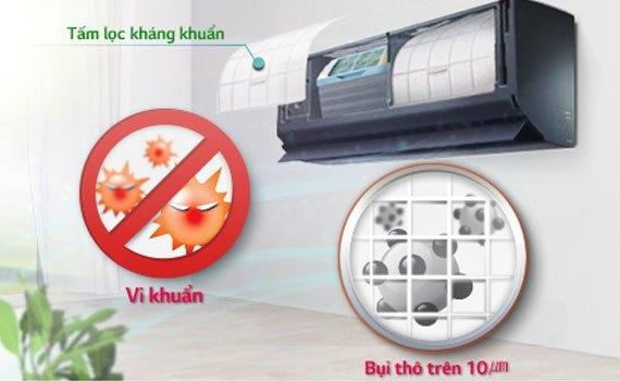 Máy lạnh LG V13BPB 1.5 HP có tấm lọc kháng khuẩn hiệu quả