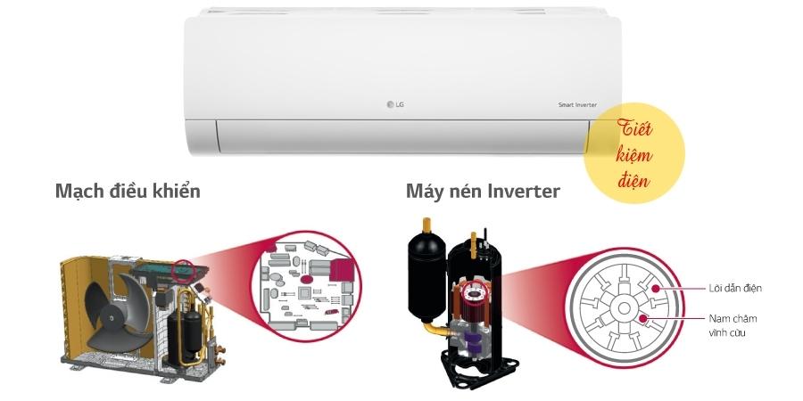 Máy lạnh LG V13END 1.5 HP tiết kiệm điện năng