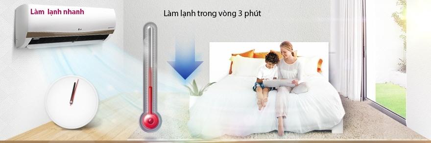 Máy lạnh LG V10ENC - Làm lạnh nhanh