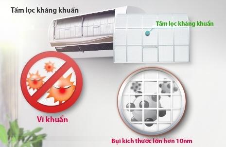 Máy lạnh LG V10ENC - Tấm lọc kháng khuẩn