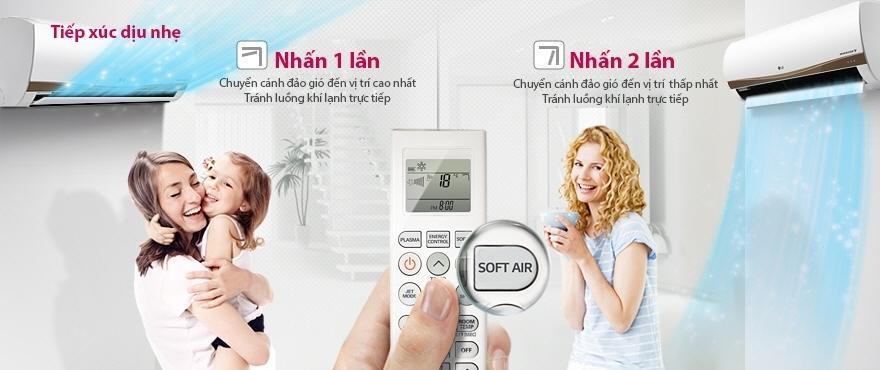 Máy lạnh LG V10ENC - Tiếp xúc tốt