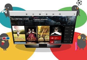 Giải trí phong phú với LG Store trên smart tivi Tivi Led LG 43LF630T