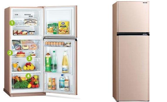 Tủ lạnh Mitsubishi Electric MR-FV32EJ 274 lít bán trả góp tại nguyenkim.com