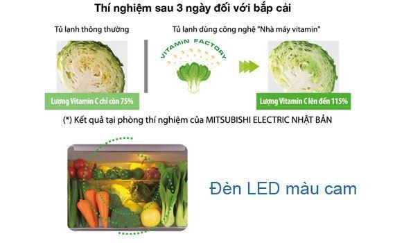 Tủ lạnh Mitsubishi Electric MR-V50EH 414 lít nâu có ngăn rau quả tăng cường Vitamin