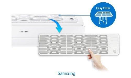 Máy lạnh Samsung AR09JVFSBWKNSV 1 HP có lưới lọc tiện dụng