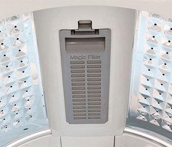 Máy giặt Samsung WA82H4200SW có bộ lọc xơ vải Magic Filter