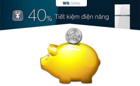 Tủ lạnh Toshiba GR-WG66VDAZ 600 lít xanh tiết kiệm điện đến 40%