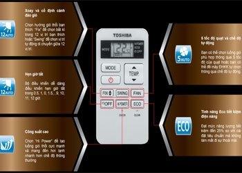 Máy lạnh Toshiba RAS-H13S3KS-V có bộ điều khiển thiết kế gọn gàng