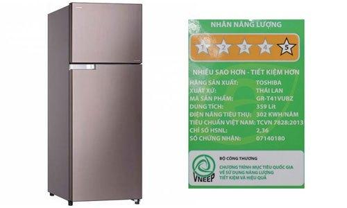 Tủ lạnh Toshiba GR-T41VUBZ (N1) tiết kiệm đến 50% điện năng tiêu thụ